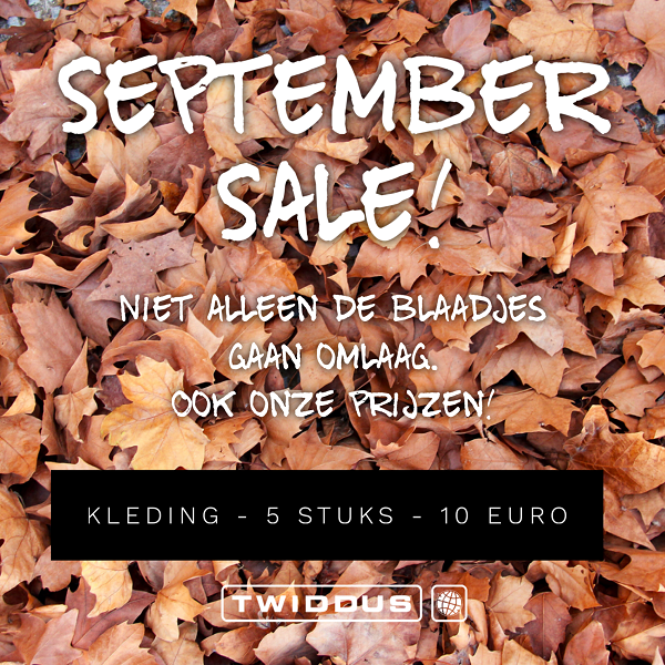 Twiddus komt met een September Sale!
